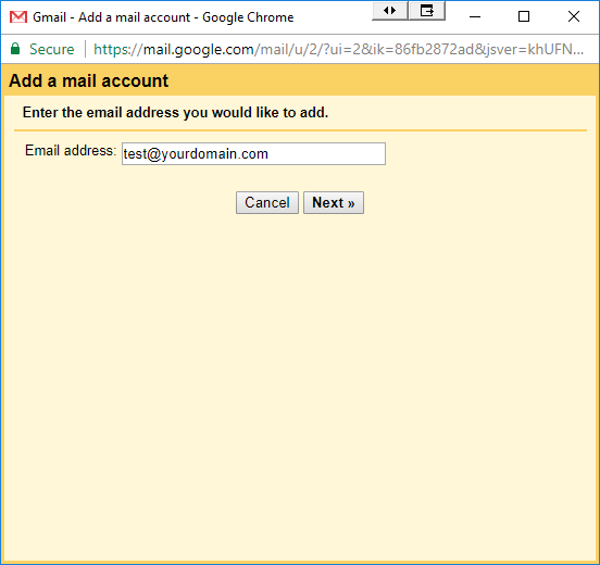 how to add email address gmail pop3