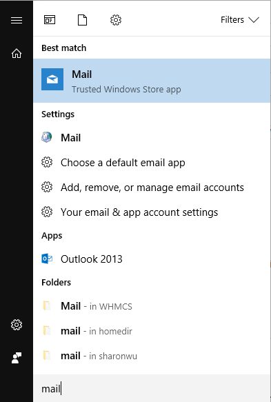 windows 10 mail client