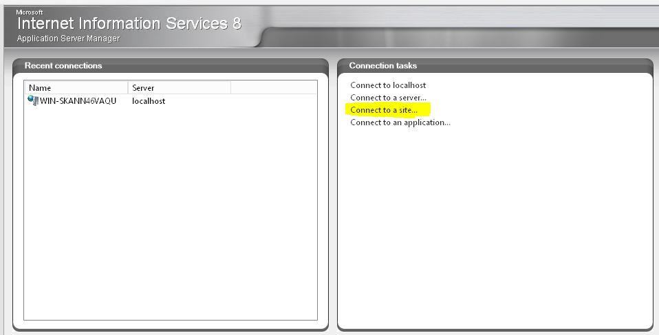 Remote IIS Manager