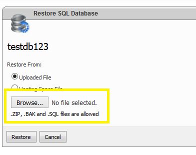 Restore MSSQL Database